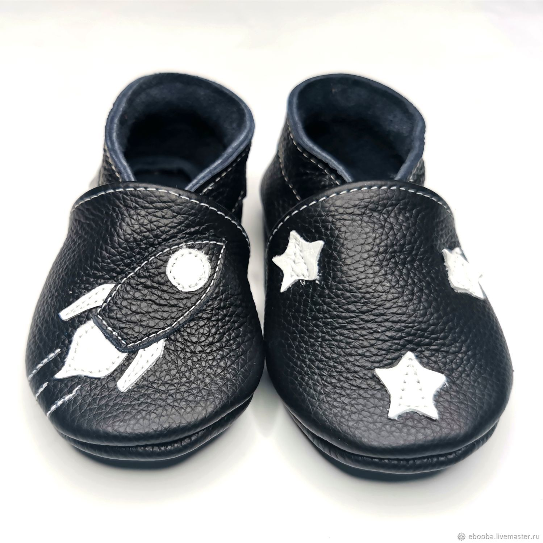 Baby shoes Rocket, Black baby slippers, Kids Slippers, Ebooba, Footwear for childrens, Kharkiv,  Фото №1