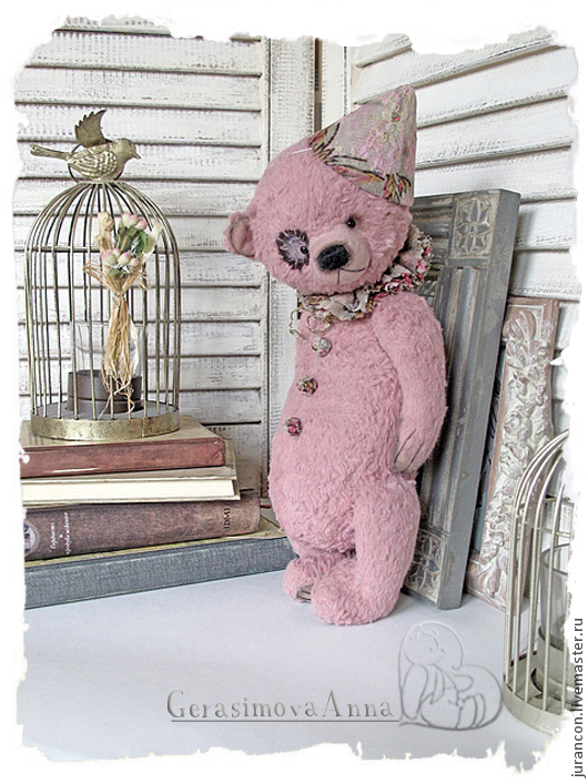Мишки Тедди ручной работы. Ярмарка Мастеров - ручная работа. Купить Флирт. Handmade. Розовый, подарок на любой случай