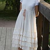 Одежда ручной работы. Ярмарка Мастеров - ручная работа Белое платье Бохо. Handmade.