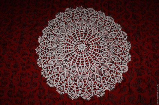 Текстиль, ковры ручной работы. Ярмарка Мастеров - ручная работа. Купить Большая кружевная салфетка. Handmade. Бежевый, салфетка крючком