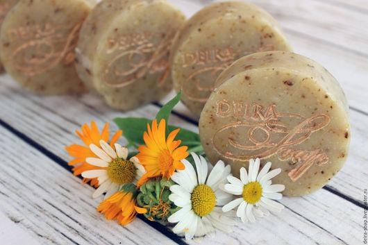 Ромашка и Календула натуральное мыло с нуля