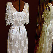 Одежда handmade. Livemaster - original item Wedding dress embroidery on net with beading