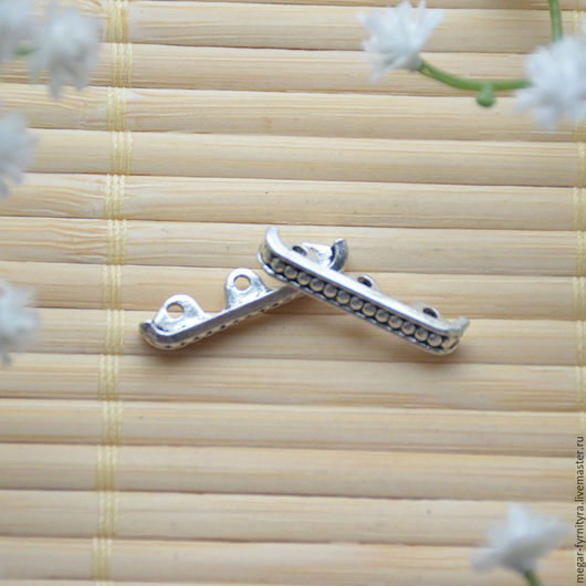 Для украшений ручной работы. Ярмарка Мастеров - ручная работа. Купить Разделитель бусин на три нити 24 х 5 мм. Handmade.