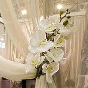 Для дома и интерьера handmade. Livemaster - original item Tiebacks magnetic Orchid. Handmade.
