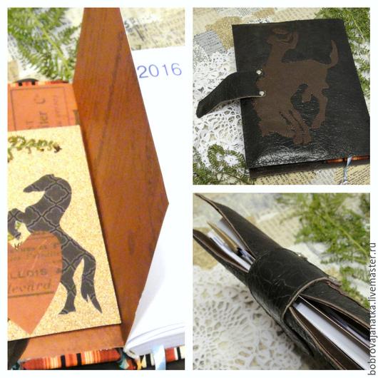 Ежедневники ручной работы. Ярмарка Мастеров - ручная работа. Купить Органайзер кожаный ежедневник кожа Съемный блок Ковбой подарок мужчине. Handmade.