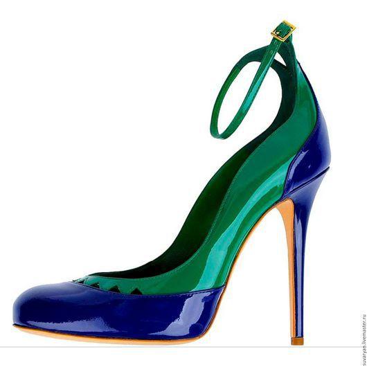 Обувь ручной работы. Ярмарка Мастеров - ручная работа. Купить туфли. Handmade. Комбинированный, любой цвет, любой размер, туфли