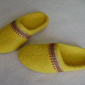 Обувь ручной работы. Ярмарка Мастеров - ручная работа тапочки Солнышко. Handmade.