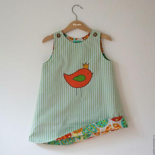 Одежда для девочек, ручной работы. Ярмарка Мастеров - ручная работа. Купить Сарафан двусторонний детский. Handmade. Разноцветный, платье для девочки