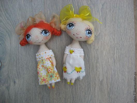 Коллекционные куклы ручной работы. Ярмарка Мастеров - ручная работа. Купить Сонечка и Полина. Handmade. Разноцветный, бантик, куколка