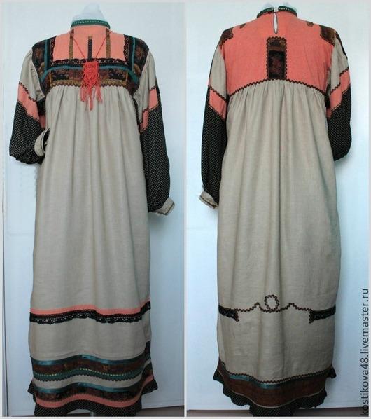 Одежда ручной работы. Ярмарка Мастеров - ручная работа. Купить Платье. Handmade. Разноцветный, штапель
