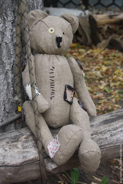 Мишки Тедди ручной работы. Ярмарка Мастеров - ручная работа Чердачный Мишка для фотосессий и дружбы. Handmade.