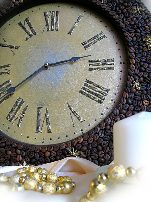 """Часы для дома ручной работы. Ярмарка Мастеров - ручная работа. Купить Часы """"Пряный кофе"""". Handmade. Авторская работа, кофе"""