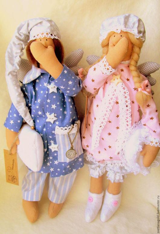 Куклы Тильды ручной работы. Ярмарка Мастеров - ручная работа. Купить Сонный Ангел. Handmade. Ангел, бусины, синтепон