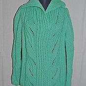 Одежда ручной работы. Ярмарка Мастеров - ручная работа Свитер унисекс, вязанный спицами, теплый, большого размера. Handmade.