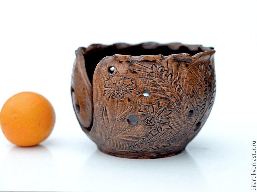 Клубочница фруктовница Тихий вечер чаша для вязания
