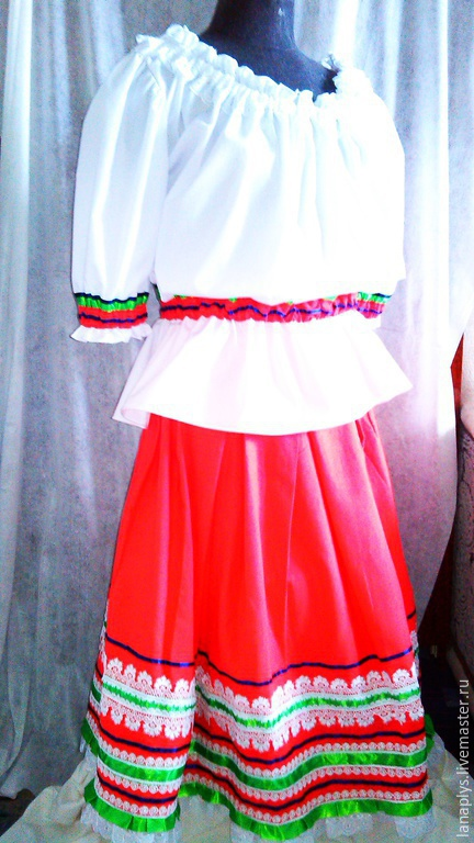 Карнавальные костюмы ручной работы. Ярмарка Мастеров - ручная работа. Купить Народный  костюм. Handmade. Однотонный, национальный костюм