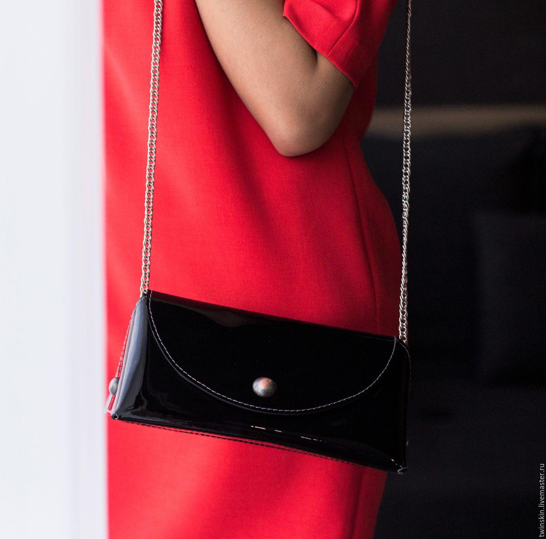 a5ad2f18528f ... Маленькая кожаная сумочка, Призма, клатч кожаный, черный, натуральная  кожа, минимализм, ...
