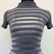 Одежда ручной работы. Ярмарка Мастеров - ручная работа Топ серо-белые полосы. Handmade.