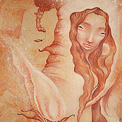 Картины и панно ручной работы. Ярмарка Мастеров - ручная работа Картина, Fox Fire Fairy, Картина пастелью.. Handmade.