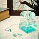 """Комплекты украшений ручной работы. Ярмарка Мастеров - ручная работа. Купить Комплект """"Льдинки"""" с родированной фурнитурой. Handmade. Голубой, кулон"""