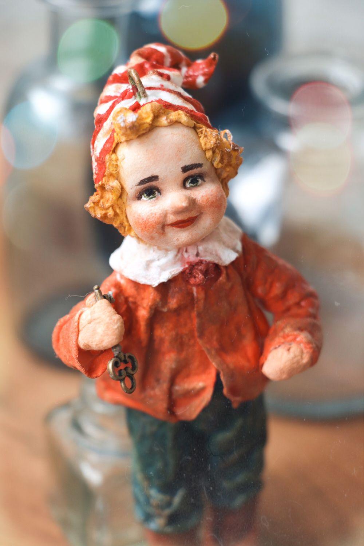 Буратино, елочная игрушка из ваты, Куклы и пупсы, Москва,  Фото №1