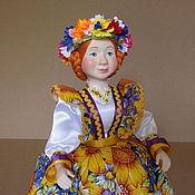 Куклы и пупсы ручной работы. Ярмарка Мастеров - ручная работа Кукла на чайник Подсолнухи. Handmade.