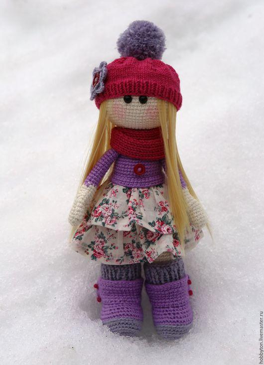 Человечки ручной работы. Ярмарка Мастеров - ручная работа. Купить Куколка. Handmade. Фиолетовый, куколка ручной работы, подарок девочке