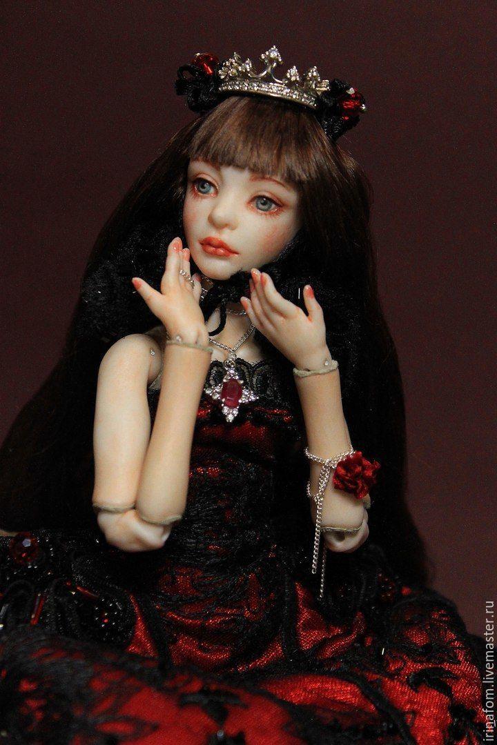Маленькая принцесса Рубин фарфоровая, шарнирная, Шарнирная кукла, Санкт-Петербург,  Фото №1