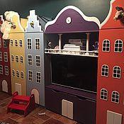 Для дома и интерьера ручной работы. Ярмарка Мастеров - ручная работа Шкаф-стеллаж в виде голландского домика. Handmade.