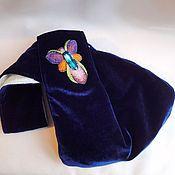 Сумки и аксессуары handmade. Livemaster - original item Handbag DOPE velvet, beads, swarovski, silk. Handmade.