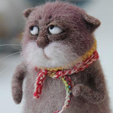 Куклы и игрушки ручной работы. Ярмарка Мастеров - ручная работа Кот, которому все фиолетово.... Handmade.