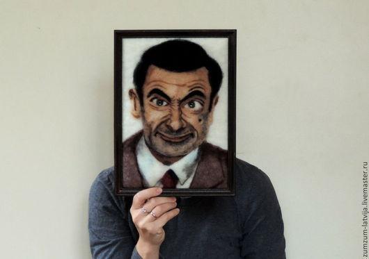 Люди, ручной работы. Ярмарка Мастеров - ручная работа. Купить Портрет Рована Аткинсона или Шерстяной мистер Бин. Handmade.