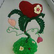 Подарки к праздникам ручной работы. Ярмарка Мастеров - ручная работа Цветочное сердце. Handmade.