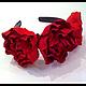 """Диадемы, обручи ручной работы. Ярмарка Мастеров - ручная работа. Купить Ободок """"Пион"""". Handmade. Комбинированный, ободок с цветами"""