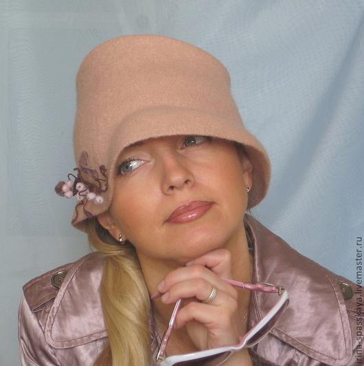 """Шляпы ручной работы. Ярмарка Мастеров - ручная работа. Купить Дамская шляпка """"Безмятежность"""". Handmade. Бледно-розовый, единственный экземпляр"""