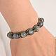 Set Shamballa bracelets with natural stones