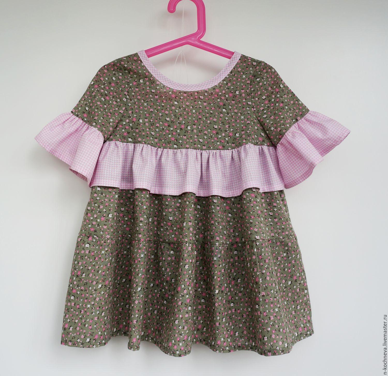 Детское платье в мелкий цветочек, Платье, Санкт-Петербург,  Фото №1