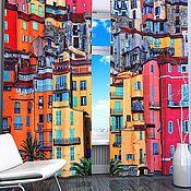 """Дизайн и реклама ручной работы. Ярмарка Мастеров - ручная работа Комплект штор """"Яркий город"""" с фотопечатью. Handmade."""