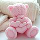Сувенирное мыло `Мишка Тедди с сердцами`
