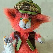 Куклы и игрушки handmade. Livemaster - original item Toy crochet kitten orange mood. Handmade.