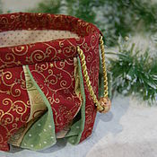 Сумки и аксессуары ручной работы. Ярмарка Мастеров - ручная работа Омияги Новогодний мешочек для хранения. Handmade.