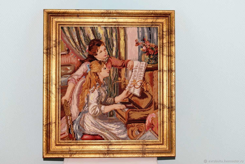 Vintage tapestry handmade( embroidery) . Germany, Vintage interior, Trier,  Фото №1