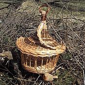 Для домашних животных, ручной работы. Ярмарка Мастеров - ручная работа Весна-красна Плетеная кормушка для мелких птичек.. Handmade.