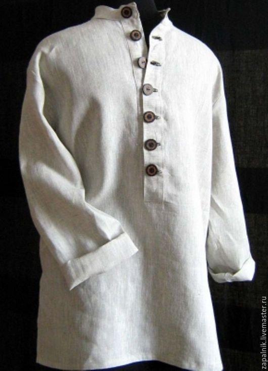 Для мужчин, ручной работы. Ярмарка Мастеров - ручная работа. Купить Льняная мужская рубашка. Handmade. Рубашка, сшить рубашку
