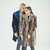 Одежда handmade. Livemaster - original item Beaver fur coat in blue. Handmade.