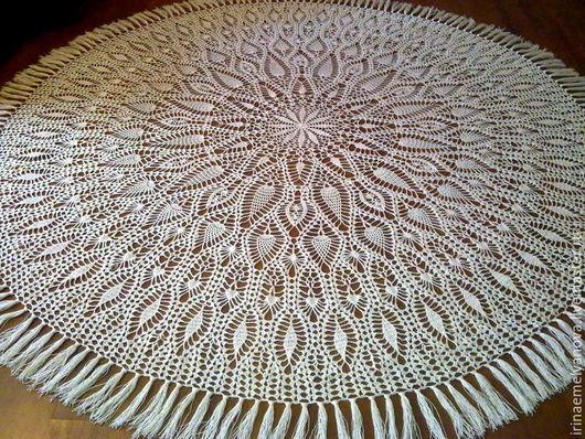 """Текстиль, ковры ручной работы. Ярмарка Мастеров - ручная работа. Купить Скатерть изо льна """"Восторг"""". Handmade. Скатерть, молочный"""