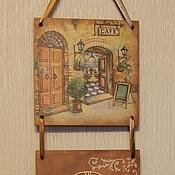 Для дома и интерьера ручной работы. Ярмарка Мастеров - ручная работа Панно-часы Уютное кафе. Handmade.