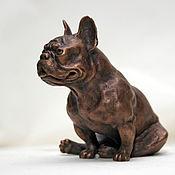 Для дома и интерьера ручной работы. Ярмарка Мастеров - ручная работа Cкульптура собак из бронзы. Handmade.