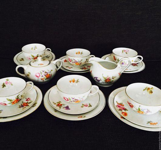 Винтажная посуда. Ярмарка Мастеров - ручная работа. Купить Чайный сервиз Розенталь. Handmade. Комбинированный