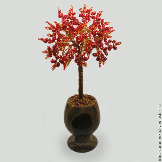 Дерево из коралла `Запах моря` в вазочке из оникcа